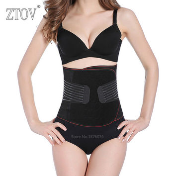 ZTOV Maternity postpartum belt Plus size Women waist trainer corsets and bustiers Black slimming waist corset body shapewear