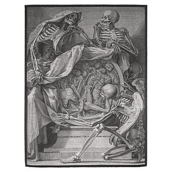 Italian Memento Mori Large Back Patch