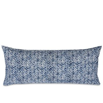 Resist Indigo Quilted Lumbar Pillow