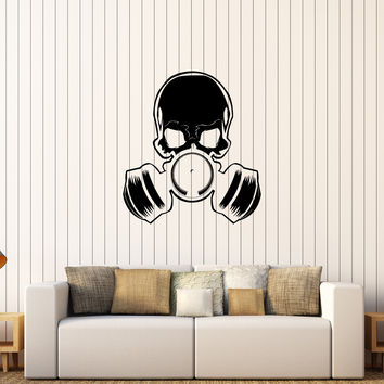 Vinyl Wall Decal Skull Gas Mask Military Art Teen Room Stickers Unique Gift (272ig)