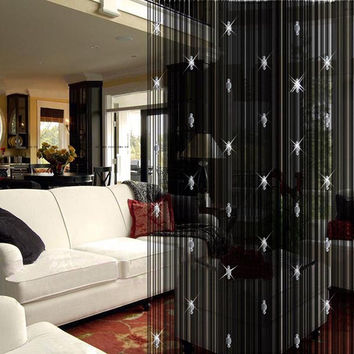 High Quality Romantic Decorative String Curtain With 3 Beads Door Window Panel Room Divider