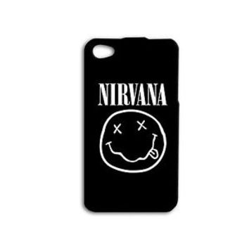 Cool Cute Black White NIRVANA Smiley Face Rock Case iPhone iPod Music Rock Band