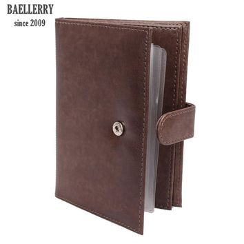 2017 men's 2 in 1 passport covers organizer car documents case good leather passport card holder Russian driver's license cover