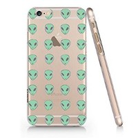 Green Alien Slim Iphone 6 Case, Clear Iphone 6 Hard Cover Case (For Apple Iphone 6 4.7 Inch Screen)-Emerishop