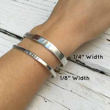I am not throwing away my shot, Hamilton Musical Handstamped Silver Bracelet
