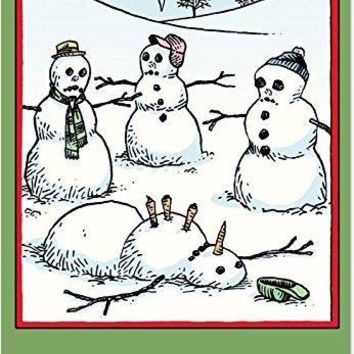 12 'Now We've Done it' Hilarious Boxed Christmas Greeting Cards, Merry Xmas Note Cards for Holidays, Gifts, Funny Snowman & Holiday Humor, Notecard Stationery w/Envelopes