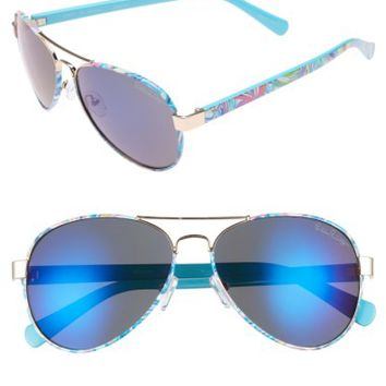 Lilly Pulitzer® Ainsley 59mm Polarized Aviator Sunglasses | Nordstrom