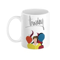 The Weeknd Thursday Mixtape Illustration Ceramic Mug