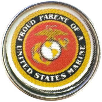 Proud Parent of a United States Marine Support Our Troops 18MM - 20MM Snap Charm