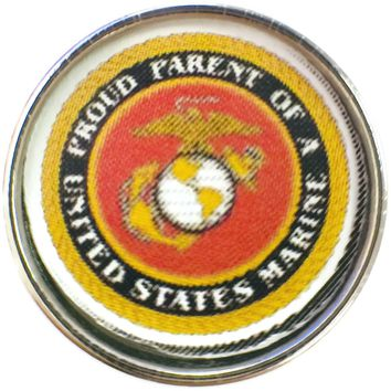 Proud Parent of a United States Marine Support Our Troops 18MM - 20MM Snap Charm New Item