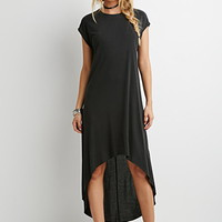 Dropped-Hem Midi Dress