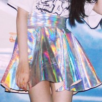 Daydreamz Holographic Skater Skirt