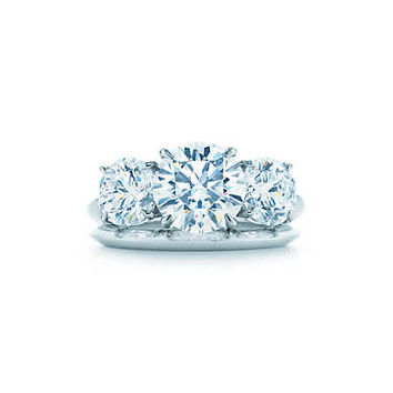 Round Brilliant Three Stone Engagement Rings | Tiffany & Co.