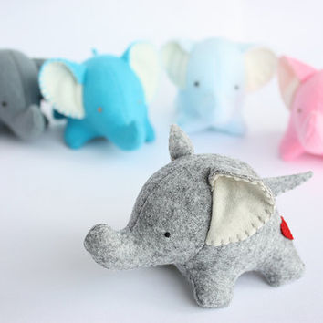 Softie felt elephant baby shower cake topper -  Ready to ship
