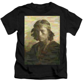 Portrait Of A Navajo Youth 1 - Kids T-Shirt