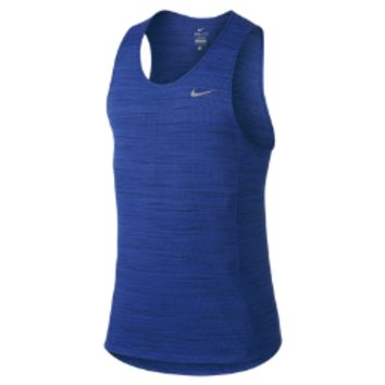 Nike Dri-FIT Cool Miler Men's Running Singlet Size Small (Blue)