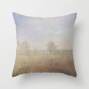 Peaceful Fields During a Kentucky Summer Throw Pillow by Stacy Frett