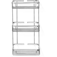 SCBA Wall Brass Shower Caddy Triple Shelf Organizer for Shampoo, Soap