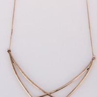 Criss Cross Collar Necklace- Gold