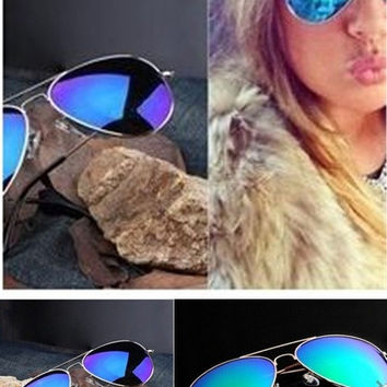 TrendyQueen-Retro Aviator Sunglasses Vintage Mirror Lens New Men Women Fashion Frame Glasses = 5987668225