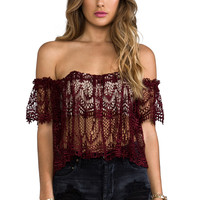 STONE_COLD_FOX Moroccan Holy Tube Top in Red