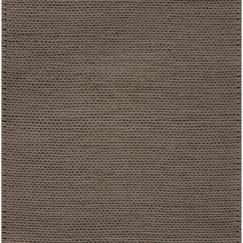 Fargo Collection 100% New Zealand Wool Braided Area Rug in Dark Taupe design by Surya