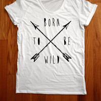 Born to Be Wild Scoopneck Tee by Valonar Sensei from CULT REPUBLIC