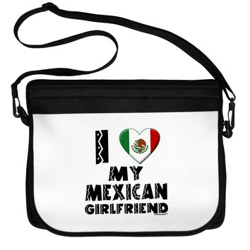 I Heart My Mexican Girlfriend Neoprene Laptop Shoulder Bag by TooLoud