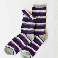 Textured Stripe Boot Sock-