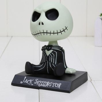 10cm The Nightmare Before Christmas jack Wacky Wobbler Bobble Head PVC Action Figure Collectible Model Toy