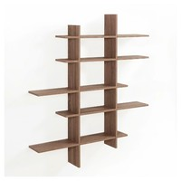 Five Level Asymmetric Shelf - Weathered Oak - Danya B.
