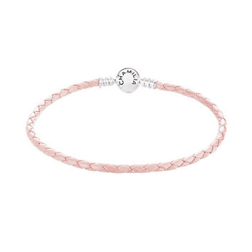 Chamilia Blush Braided Leather Bracelet