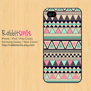 Aztec Tribal iPhone 5 Case, iPhone 4 case, Geometric Pattern iPhone 4s Cover, Triangle Hard Plastic iphone 5 Cover, cases