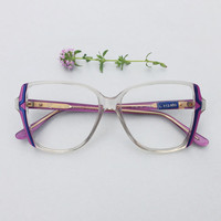 80s CAPUCCI frame / Vintage italian designer Eyeglasses  / violet and transparent sunglasses  / optical frames eyewear