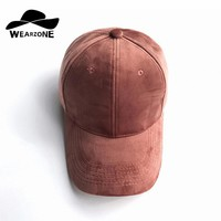 Velvet Snap Back Baseball Cap Hip Hop Flat Hat Bone cap