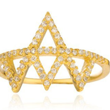 Ladies 925 Sterling Silver Iced Out 'Crown' Finger Ring (7)