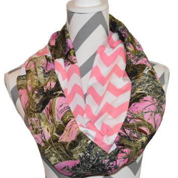 Pink Camo Scarf