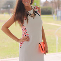 Top Of The Hourglass Dress,Taup