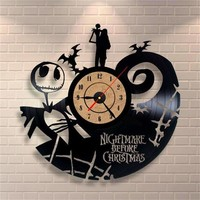Nightmare Before Christmas Vinyl Record Clock