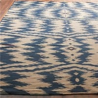 Ikat Stripe Dhurrie Rug: 4 Colors - Shades of Light