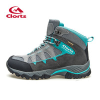 2016 Clorts Women Climbing Shoes Outdoor Boots HKM-823E/F Suede Leather Hiking Boots Waterproof Non-Slip Women Trekking Shoes
