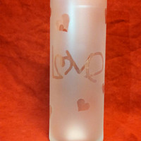 "Frosted ""Love"" Vase"