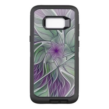 Flower Dream, Abstract Purple Green Fractal Art OtterBox Defender Samsung Galaxy S8+ Case
