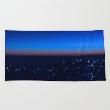shimla dusk Beach Towel by letgofyourcolours