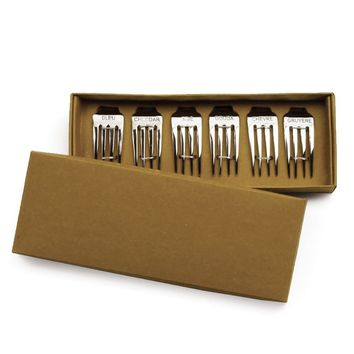 Fork Cheese Markers (Set of 6)