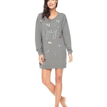 Juicy Bows Graphic Pullover Nightie by Juicy Couture