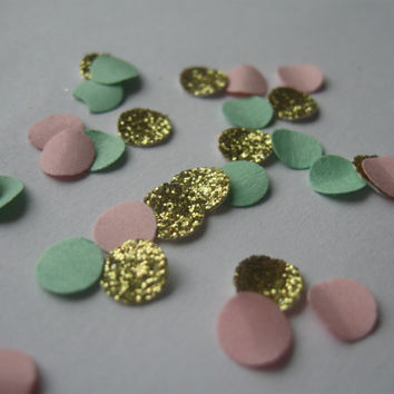 Party Confetti - Tiny Gold Glitter Confetti, Tiny Paper Confetti Birthday Party Decor Baby Shower Decor Pink Green Gold Confetti Party Decor