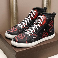 Gucci Man or Woman Fashion Pattern Strappy Casual Shoes