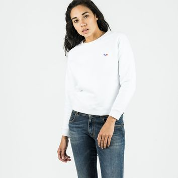 Tricolor Fox Sweatshirt White