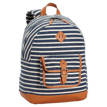 NORTHFIELD NAVY STRIPE BACKPACK